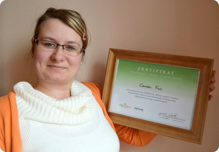 Carmen Fus mit Zertifikat